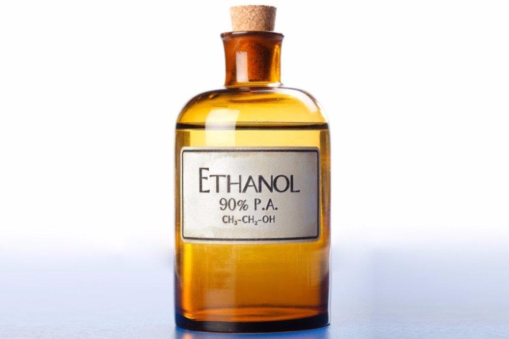 Ethanol in a bottle