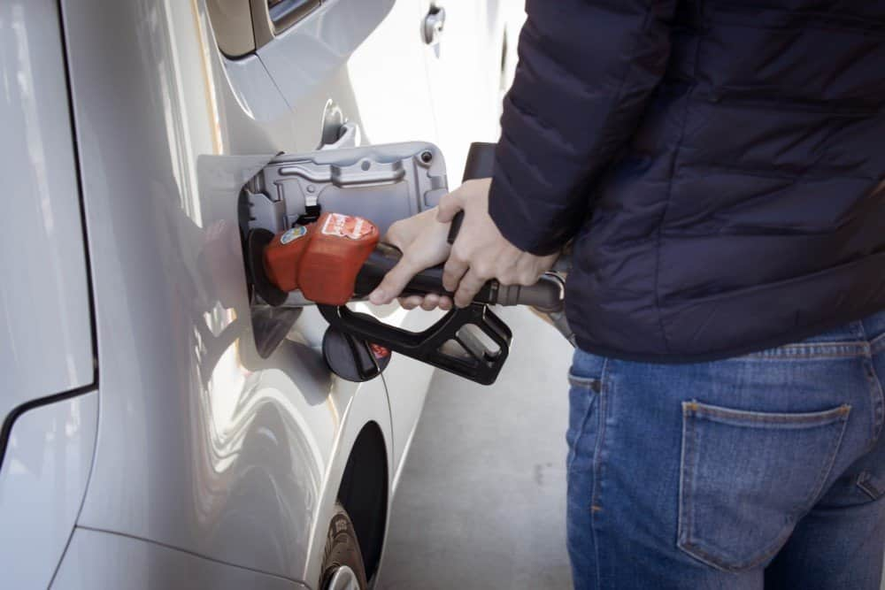 Fueling up a car